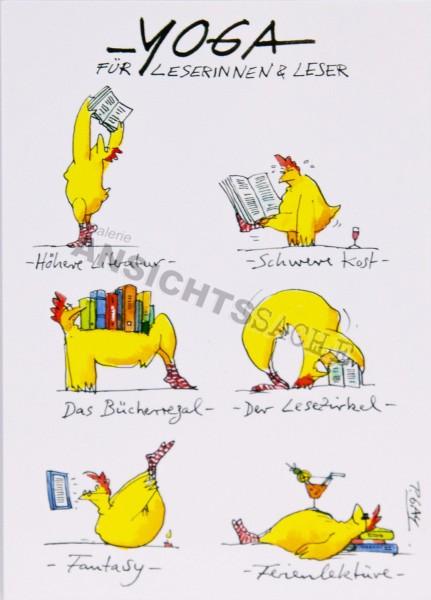"""Postkarte """"Yoga für Leserinnen & Leser"""""""