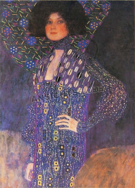 "Postkarte ""Gustav Klimt - Porträt Emilie Flöge"""