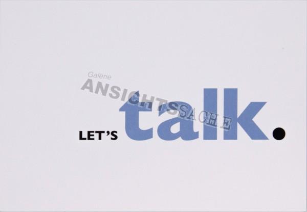 """Postkarte """"Let`s talk."""""""
