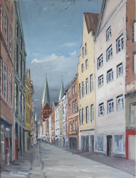 Fleischhauerstraße, Blick auf St. Marien