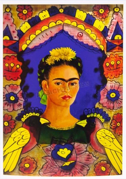 "Postkarte ""Frida Kahlo - Der Rahmen, Selbstporträt"""