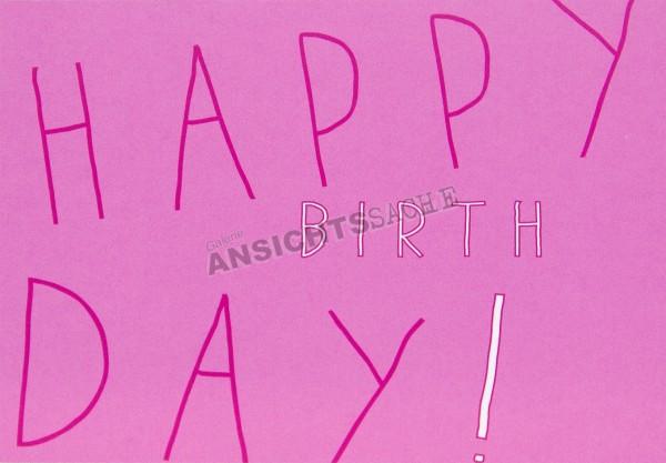 """Geburtstagskarte """"HAPPY BIRTHDAY!"""""""