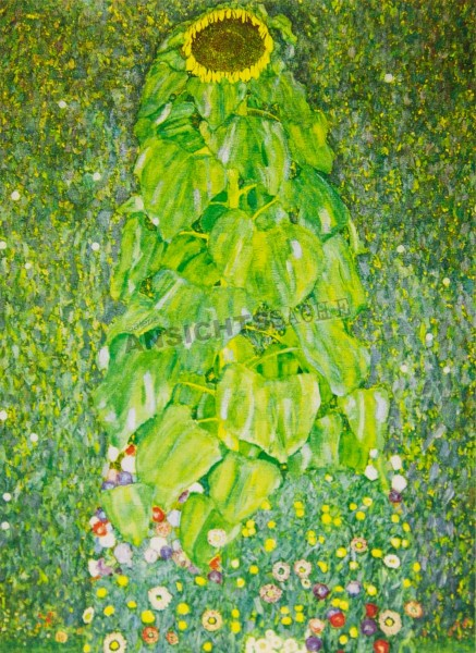 "Postkarte ""Gustav Klimt - Die Sonnenblume"""
