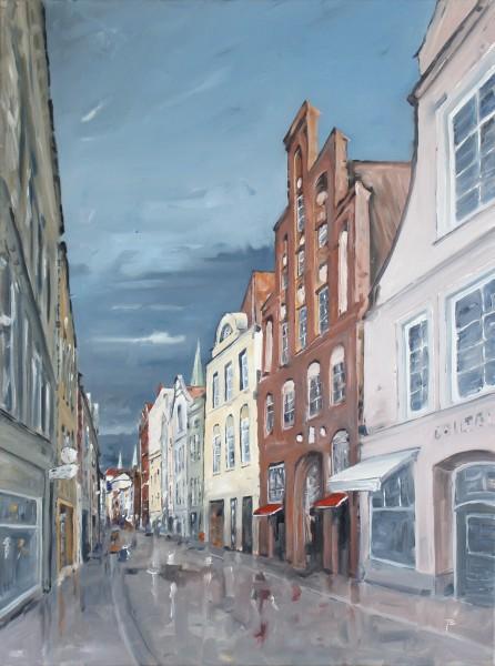Hüxstraße nach dem Regen