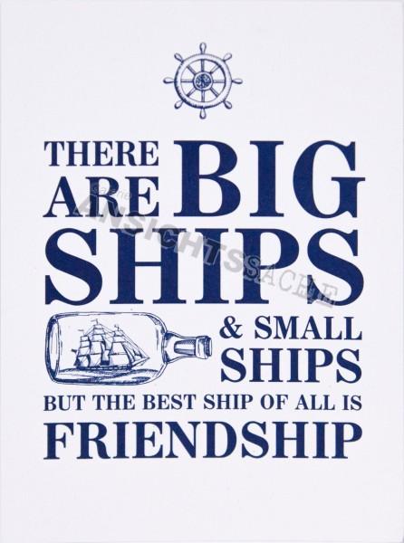 "Postkarte ""There are big ships & small ships.."""