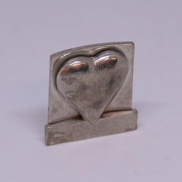 Zinn-Kartenhalter Herz