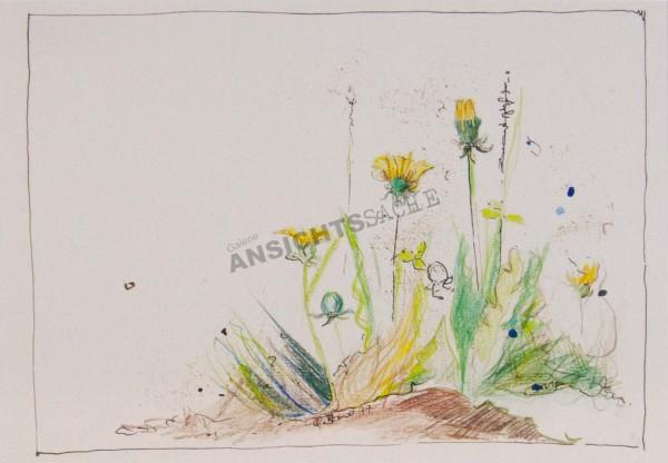 """Postkarte """"Claudia Brandt - Löwenzahn"""""""