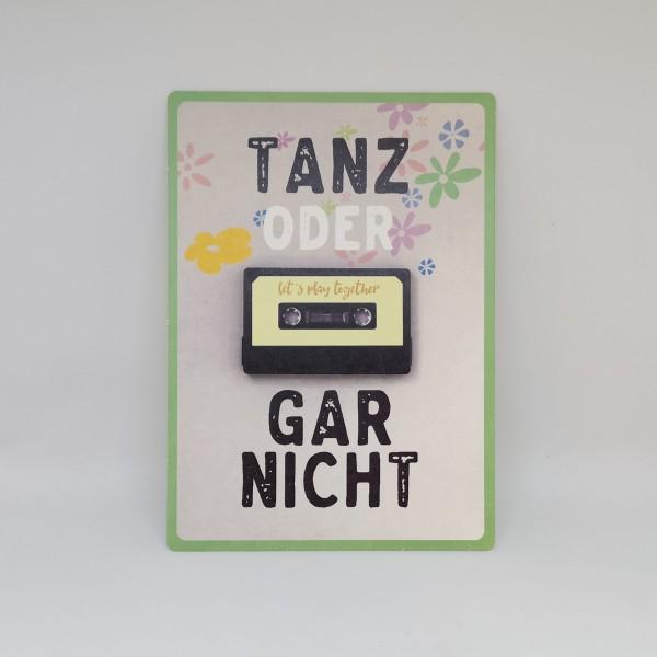 """Karte """"Tanz oder gar nicht"""""""