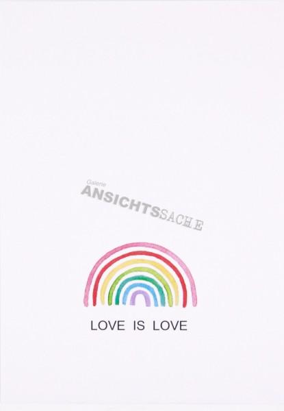 "Postkarte ""LOVE IS LOVE"""