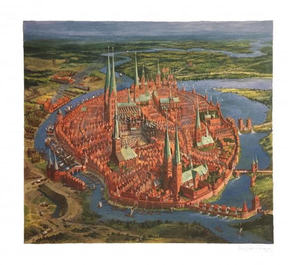 Lübeck zur Hansezeit aus geistiger Vogelschau