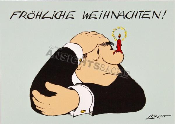 """Weihnachtskarte Loriot """"Fröhliche Weihnachten!"""""""