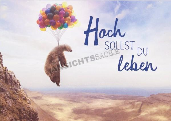 """Geburtstagskarte """"Hoch sollst du leben"""""""