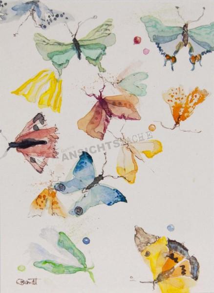 "Postkarte ""Claudia Brandt - Bunte Falter"""
