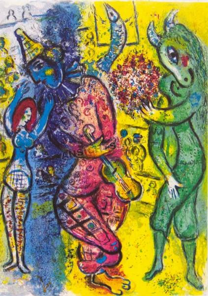 """Postkarte """"Marc Chagall - Bild aus der Serie Le Cirque"""""""