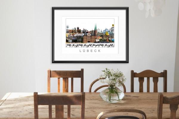 Lübeck City Print