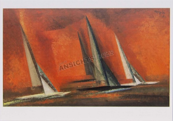"Postkarte ""Lyonel Feininger - Schären-Kreuzer"""