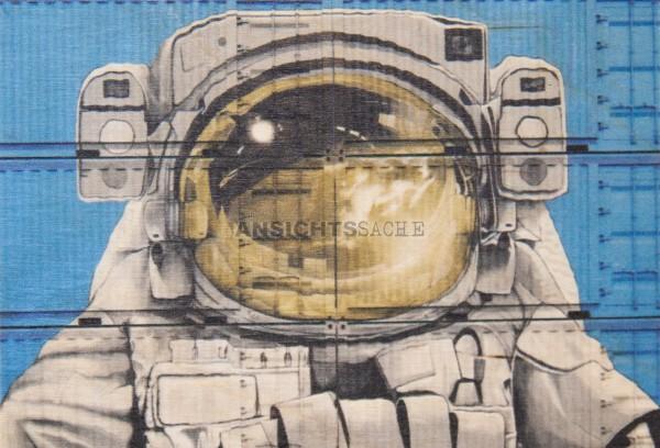 "Holz-Postkarte ""Astronaut"""