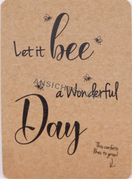 "Postkarte ""let it bee a wonderful day"""