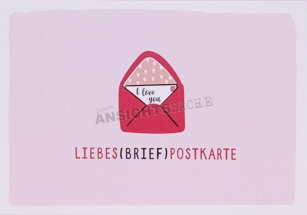 """Postkarte """"Liebes(brief)postkarte"""""""