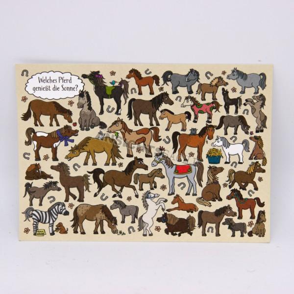 Postkarte Pferde-Suchbild