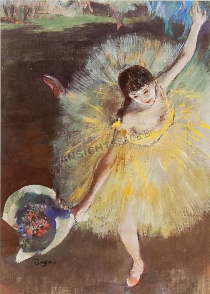 """Postkarte """"Edgar Degas - Abschluss der Arabeske oder grüssende Tänzerin"""""""