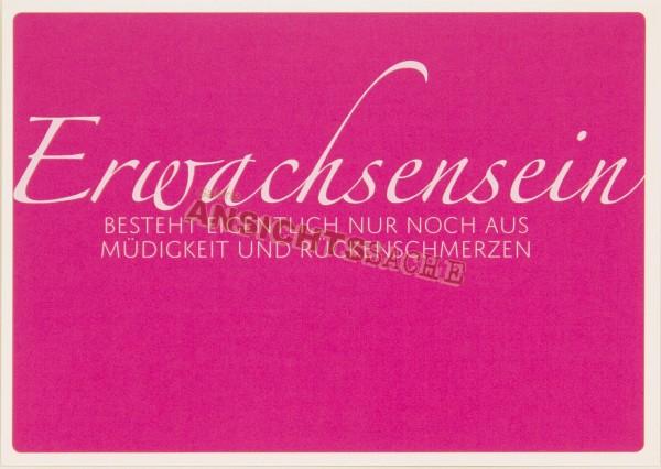 "Postkarte ""Erwachsensein.."""