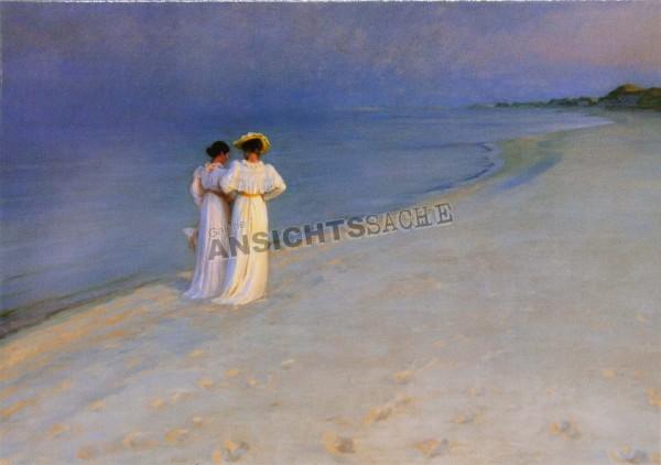 "Postkarte ""P. S. Krøyer - Sommerabend am Südstrand"""