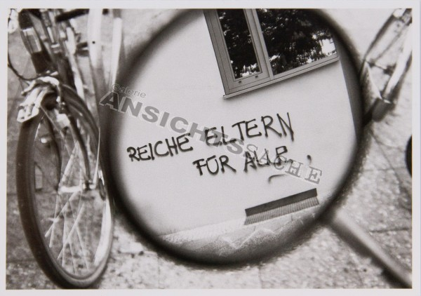 """Postkarte """"Reiche Eltern für alle"""""""