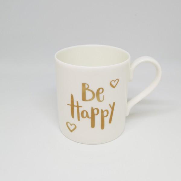 Be Happy-Becher