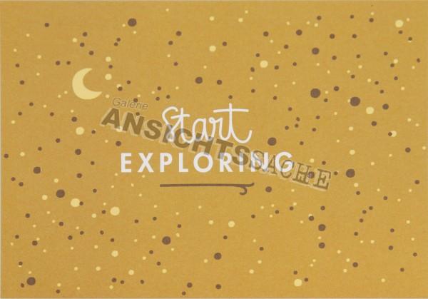 "Postkarte ""start exploring"""