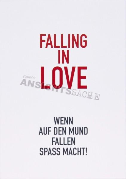 """Postkarte """"Falling in Love.."""""""