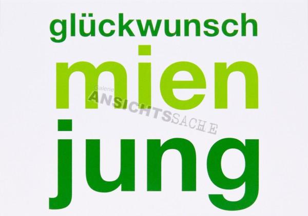 """Geburtstagskarte """"glückwusch mien jung"""""""