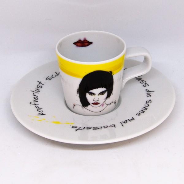 Böse Mädchen-Espressotasse