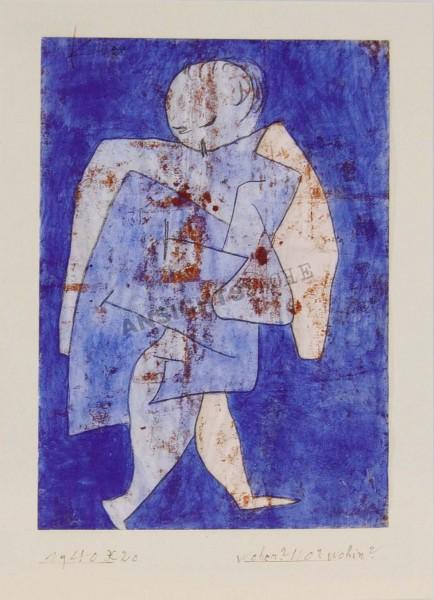 "Postkarte ""Paul Klee - woher? wo? wohin?, 1940, 60"""