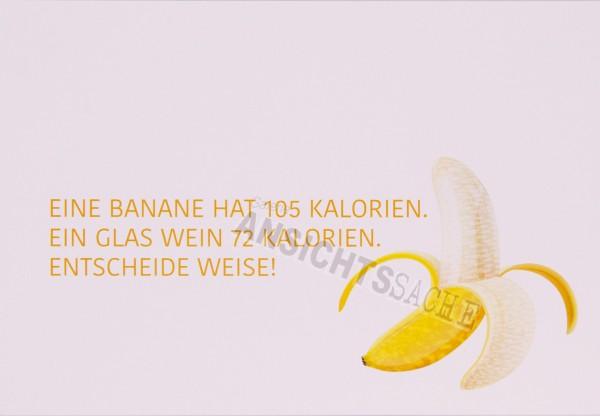 "Postkarte ""Eine Banane hat 105 Kalorien.."""
