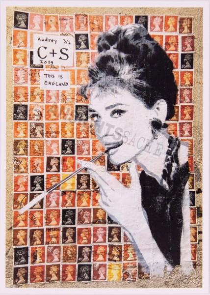 """Postkarte """"Audrey Hepburn"""""""