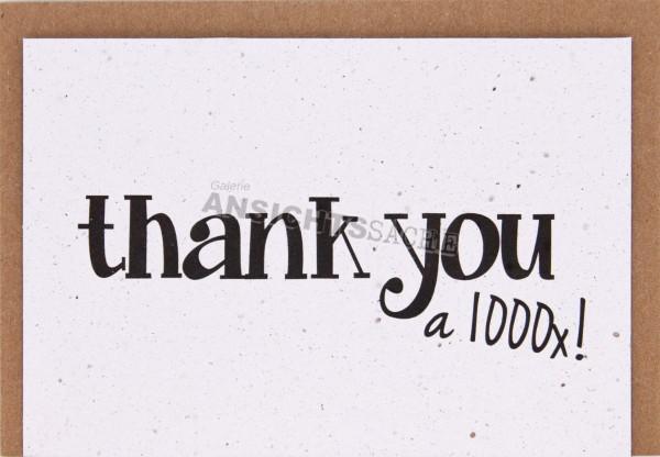 "Pflanzbare Karte ""Thank you a 1000x"""