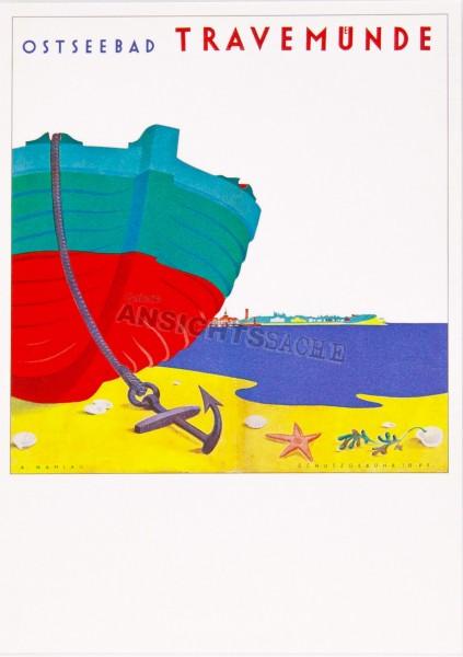 Postkarte Ostseebad Travemünde II - A.Mahlau