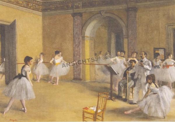 """Postkarte """"Edgar Degas - La Leçon de danse"""""""