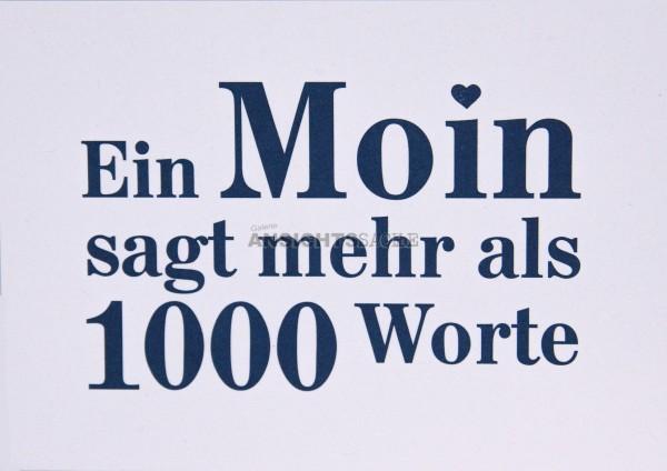 """Postkarte """"Ein Moin sagt mehr als 1000 Worte"""""""